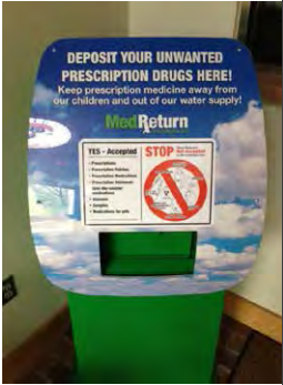 Photograph of a controlled substances collection receptacle