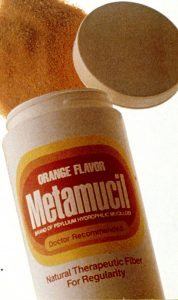 Photo of Metamucil, a OTC psyllium fiber suppliment