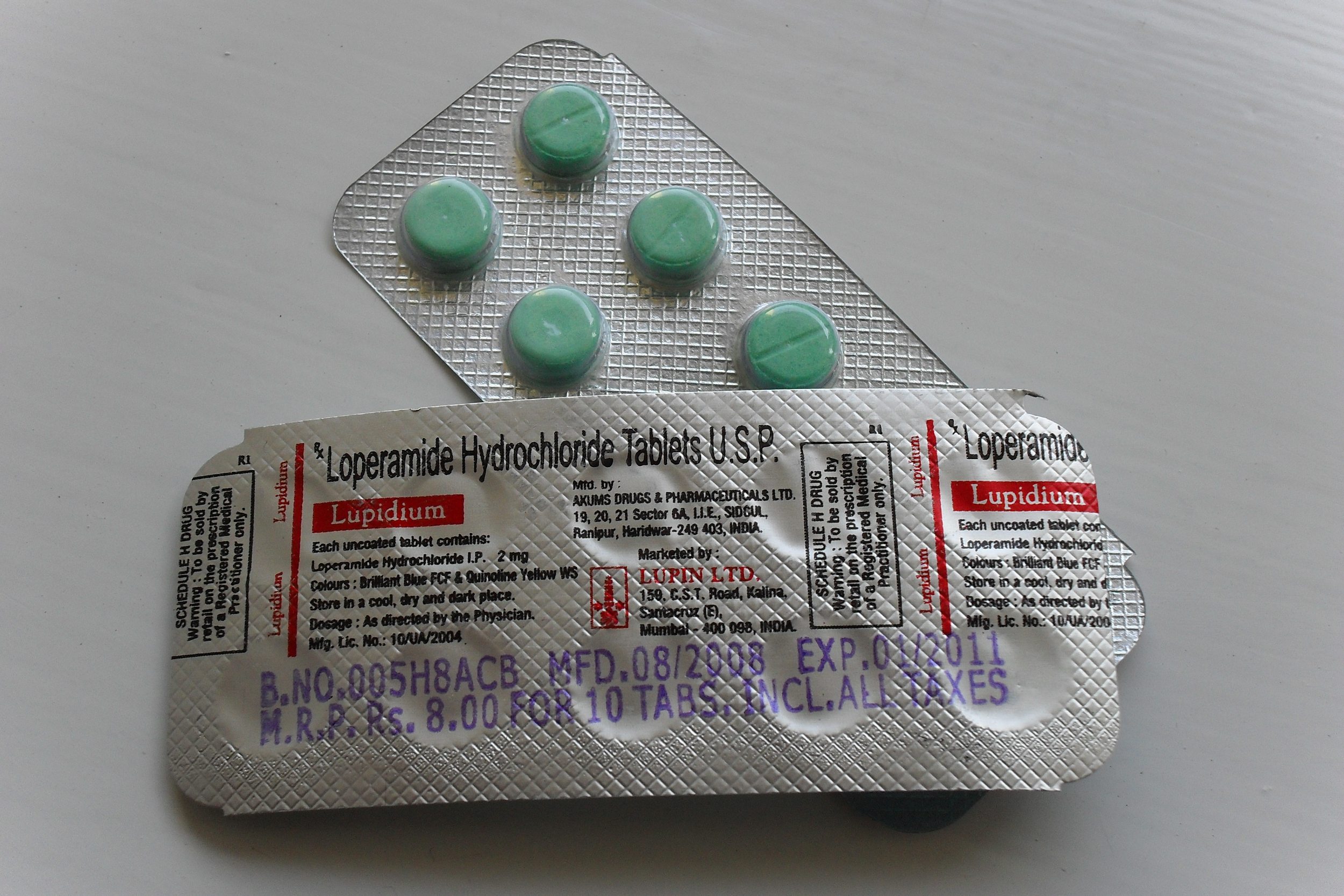 Photo of Loperamide Hydrochloride Tablets